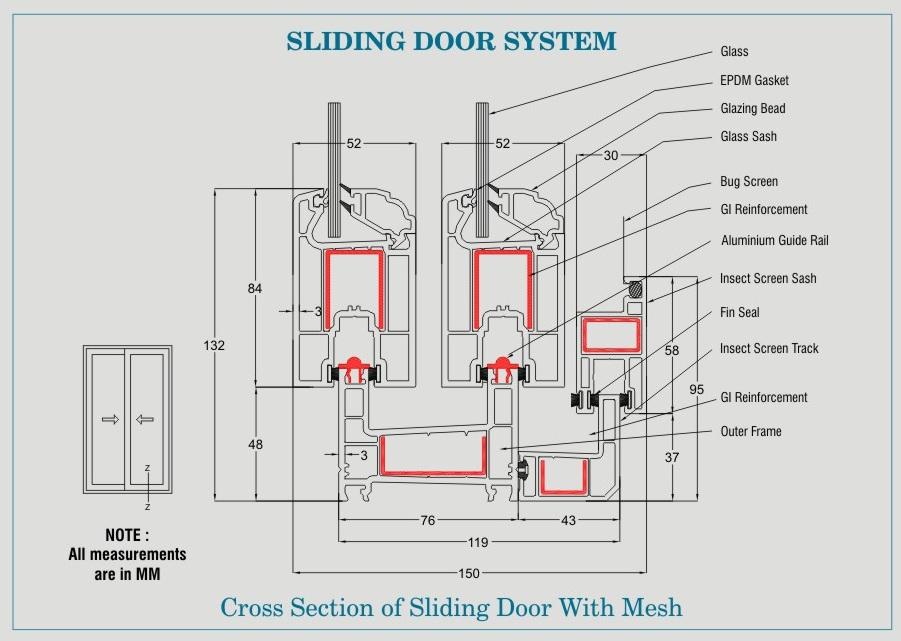 gliding windows floor plan torfenster